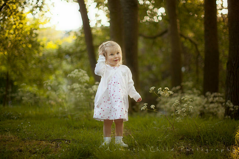 portrait of a cute 17 month old girl in Crystal Palace Park | South East London