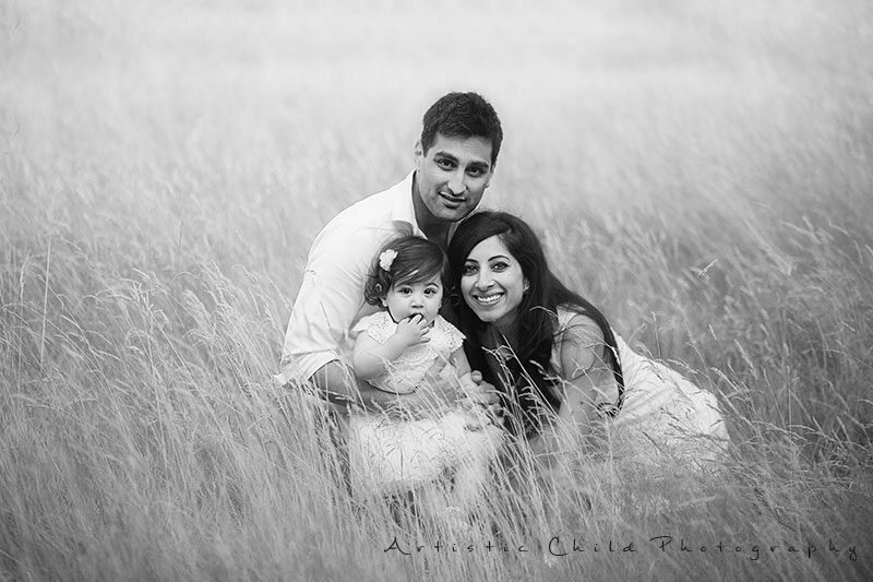 Professional London Family Photographer |black and white family portrait taken in Richmond Park