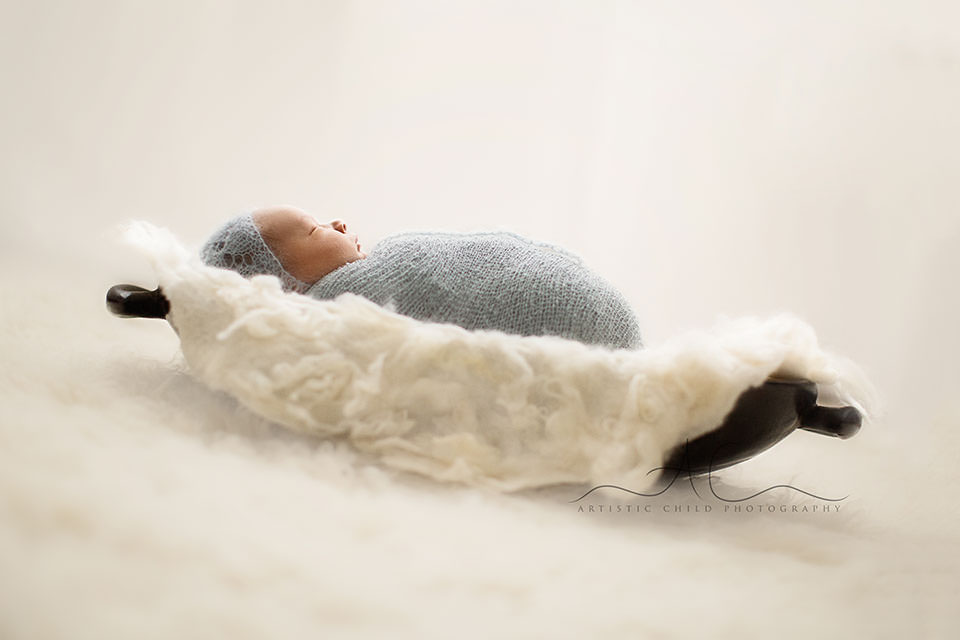 South East London Newborn Photographer | newborn baby boy photographed in trench bowl