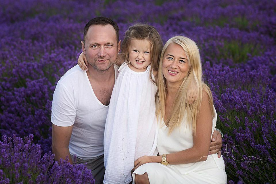 family portrait in lavender field | London