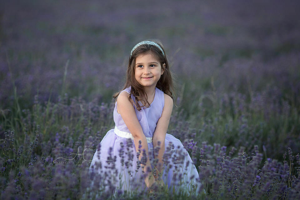 London Kids Pictures in Lavender Field | 5 year old girl playing in lavender field