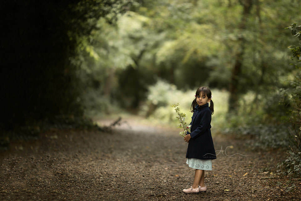 5 year old girl walking in the park   London