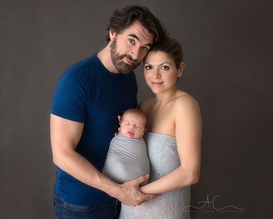 Bromley Family Portraits | parents with their newborn son