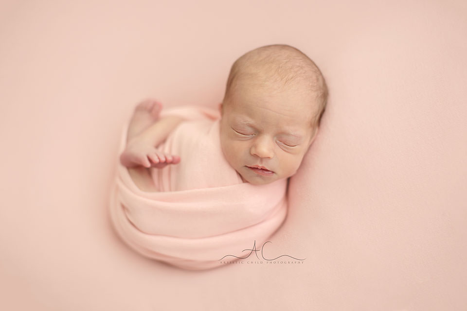 natural portrait of a newborn baby girl | London