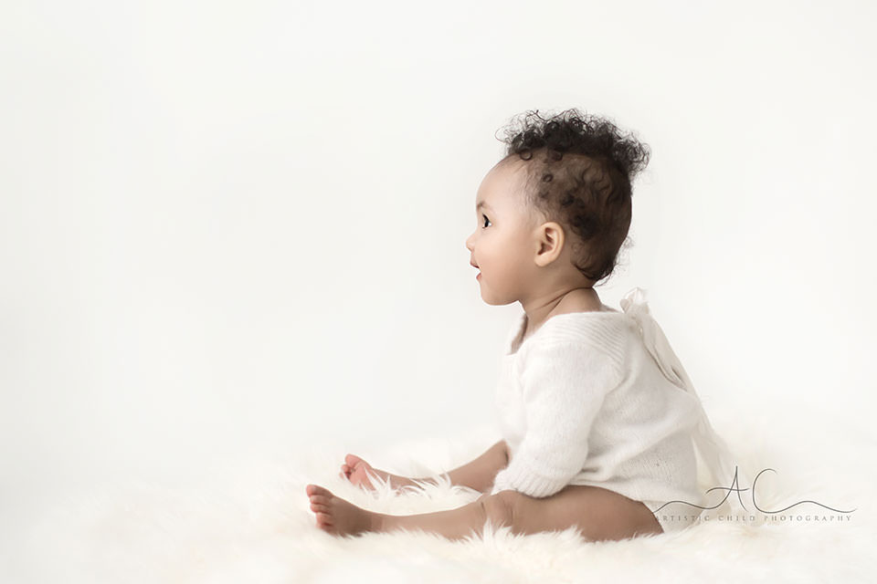 a profile portrait of a 7 months old baby girl | South East London