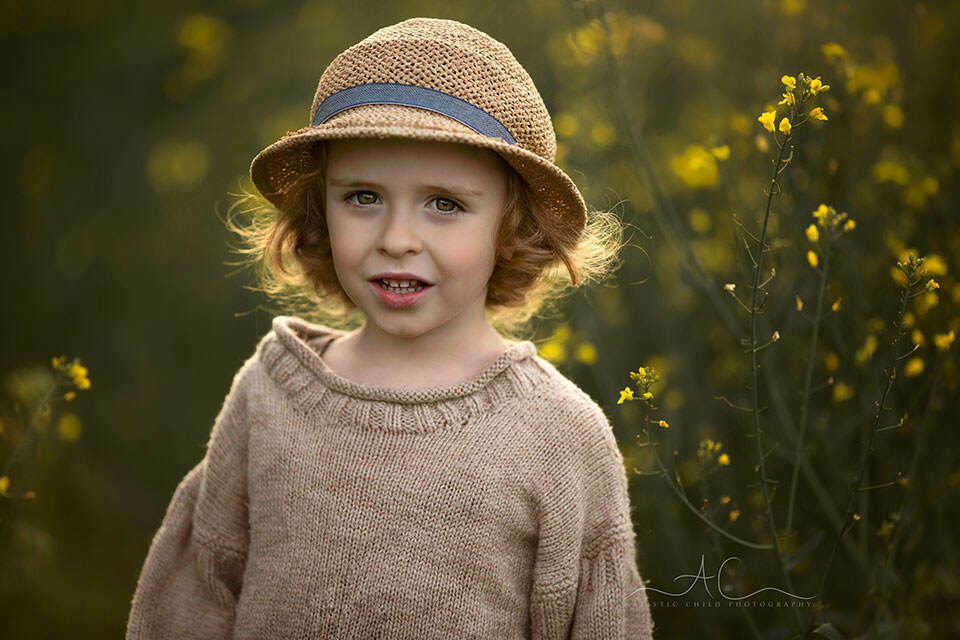 Rapeseed Field South East London Child Photography   a close up portrait of a 4 year old boy